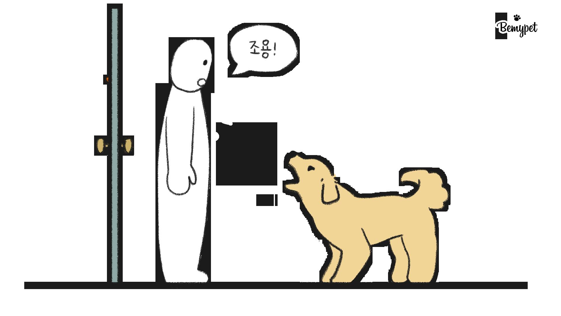 강아지 짖음 방지 훈련